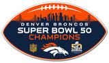 Super Bowl 50 Denver Broncos Vinyl Magnet Magnet