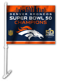 Super Bowl 50 Denver Broncos Car Flag Flag