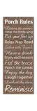 Porch Rules Brick Premium Giclee-trykk av Lauren Gibbons