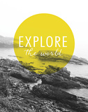 Explore the World Posters by Laura Marshall