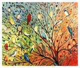 27 Birds Lámina por Jennifer Lommers