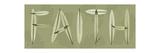 Faith Letters Premium Giclee Print by Albert Koetsier