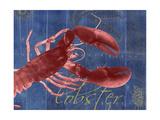Nautical Lobster 1 Premium Giclée-tryk af Albert Koetsier