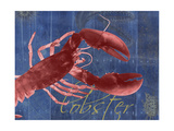 Nautical Lobster 1 Premium Giclee Print by Albert Koetsier
