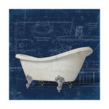 Bath Blues 2 Premium Giclee Print by Diane Stimson