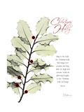 Xmas Holly Premium Giclee Print by Albert Koetsier