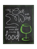 Cook with Wine Prints by Lauren Gibbons