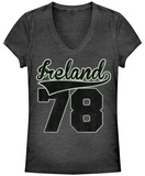 Juniors: Ireland '78 V-Neck Womens V-Necks