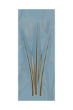 Brown Blue Palm Premium Giclee Print by Albert Koetsier