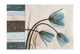 Blue Scroll Tulip Premium Giclee Print by Albert Koetsier