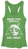 Juniors Tank Top: Grumpy Cat- Irish You Away Damestanktops
