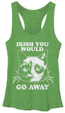 Juniors Tank Top: Grumpy Cat- Irish You Away Womens Tank Tops