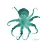 Teal Octopus Premium Giclee Print by Albert Koetsier