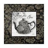 Gray Tea Damask Poster von Diane Stimson