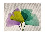 SoHo Diagonal Ginkos Premium Giclee Print by Albert Koetsier