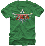 Legend Of Zelda- Skyward Sword Game Logo Camisetas