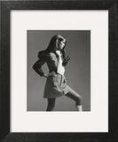 Vogue - March 1969 - Jean Shrimpton in Mini Art Print by Gianni Penati