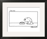 Faith - Cartoon Art Print by Charles Barsotti