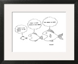 Smallest fish, about to be eaten. - New Yorker Cartoon Wall Art by Robert Mankoff