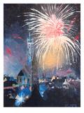 Landshut Bavaria Fireworks Posters by M Bleichner