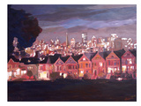 San Fran Painted Ladies 2 Poster by M Bleichner