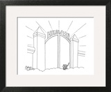 Cat enters Heaven through a cat door. - New Yorker Cartoon Art Print by Gahan Wilson