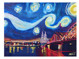 Starry Night In Cologne Art by M Bleichner