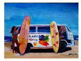The Lady Power Surf Bus Prints by M Bleichner