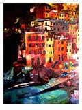 Magic Cinque Terre Night In Riomaggiore Poster par M Bleichner