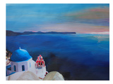 Santorini Greek Island View Posters by M Bleichner