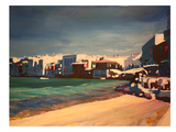 Mykonos Greece Little Venice Seascape Prints by M Bleichner