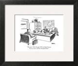 """The years 1966 through 1995 are blank because I was on tour with the Grat…"" - New Yorker Cartoon Art Print by Jack Ziegler"