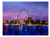 St Louis Arch Gateyway At Sunset Prints by M Bleichner