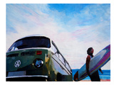 The Green Surf Bus Prints by M Bleichner