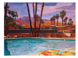Palm Springs Pool 2 Reproduction procédé giclée par M Bleichner