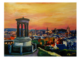 Edinburgh Scotland Skyline With Arthurs Seat Prints by M Bleichner
