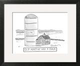 """Old Martini Had A Farm"" - New Yorker Cartoon Art Print by Danny Shanahan"