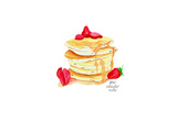 Pancakes Posters by Gina Maher