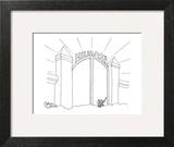 Cat enters Heaven through a cat door. - New Yorker Cartoon Art Print by Gahan Wilson