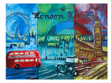 London Bus And Big Ben 2 Art by M Bleichner