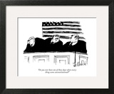 """Do you ever have one of those days when everything seems un-Constitutiona…"" - New Yorker Cartoon Art Print by Joseph Mirachi"