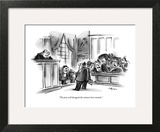 """The jury will disregard the witness's last remarks."" - New Yorker Cartoon Wall Art by Lee Lorenz"