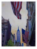 NYC Manhattan Patriotism 2 Poster by M Bleichner