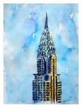 Nyc Chrysler Buildin Solitary View Neu Print by M Bleichner