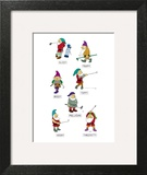 The seven dwarves depicted as golfers with the names, 'Slicey,' 'Hooky,' '… - New Yorker Cartoon Wall Art by Alex Gregory