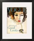 Vogue Cover - March 1958 - Good Looks Art Print by René R. Bouché