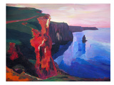 Cliffs Of Moher In County Clare Ireland At Sunset Aillte An Mhothair Poster by M Bleichner