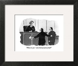 """What are you—some kind of justice freak?"" - New Yorker Cartoon Art Print by Danny Shanahan"