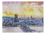 Cologne Deutz Bridge Sunset Poster by M Bleichner
