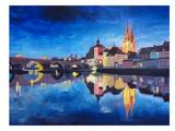 Regensburg Bavaria At Dawn Prints by M Bleichner